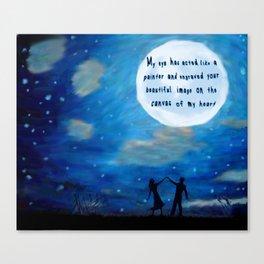 Love Under Moonlight Canvas Print