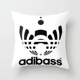 Adibass logo Throw Pillow