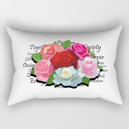Liberty Flowers by Devin Buzzarello Rectangular Pillow