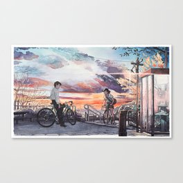Bicycle Boy 10 Canvas Print