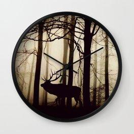 Forest night deer Wall Clock