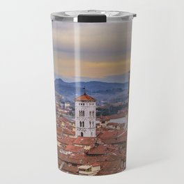 Aerial View Historic Center of Lucca, Italy Travel Mug