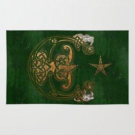 Hunter and Gold Celtic Rug