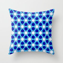 Stars And Hexes Throw Pillow