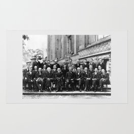 World-Renowned Physicists of 1927 at Solvay Conference Rug