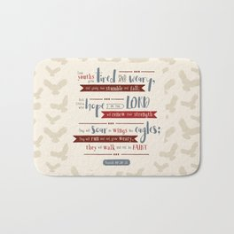 """""""Hope in the Lord"""" Hand-Lettered Bible Verse Bath Mat"""