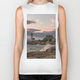 Annisquam Lighthouse sunset Biker Tank