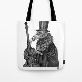 Vulture Double Bass by Pia Tham Tote Bag