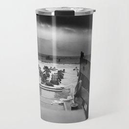 Omaha Beach Landing -- D-Day Normandy Invasion Travel Mug