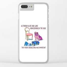 animals with chairs #3 Homeschooling Clear iPhone Case