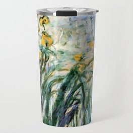 "Claude Monet ""Yellow Irises and Malva"", 1914 - 1917 Travel Mug"