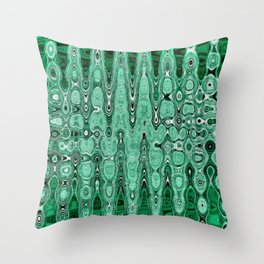 Abstract Pattern In Green. Throw Pillow