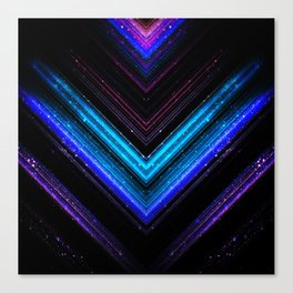 Sparkly metallic blue and purple galaxy lines Canvas Print