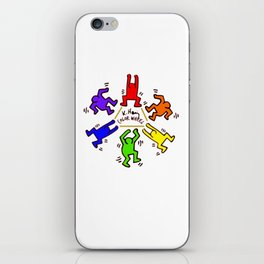 Keith Haring inspired Color Wheel iPhone Skin