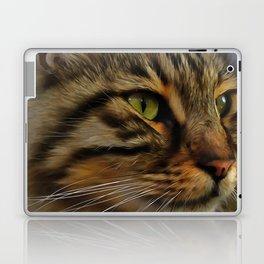 Aslan The Long Haired Tabby Cat Laptop & iPad Skin