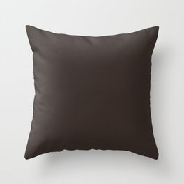 Cocoa Brown - Solid Color Throw Pillow