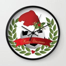 Christmas Soccer Ball Wall Clock