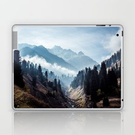 VALLEY - MOUNTAINS - TREES - RIVER - PHOTOGRAPHY - LANDSCAPE Laptop & iPad Skin
