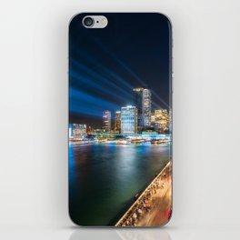 Sydney Skyline dressed in deep blue tones iPhone Skin