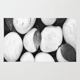 Zen White Stones On A Black Background #decor #society6 #buyart Rug