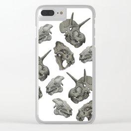 Dinosaur Skulls Clear iPhone Case