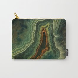 The world of gems - green agate Carry-All Pouch