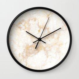 Gold Marble Natural Stone Veining Quartz Wall Clock