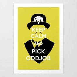 Pick Oddjob Art Print