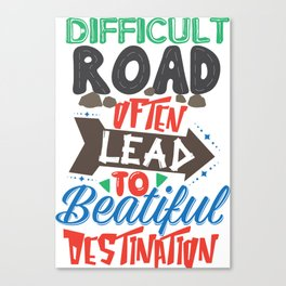 Difficult Road Canvas Print