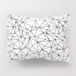Mosaic Triangles Repeat Seamless Pattern Black and White Pillow Sham