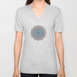 Digital Mandala #5 Unisex V-Neck