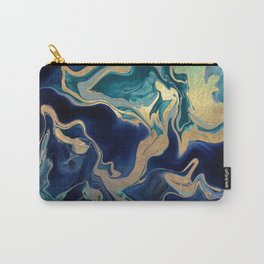 DRAMAQUEEN - GOLD INDIGO MARBLE Carry-All Pouch