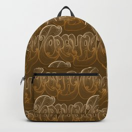 Torquay Typography - Warm Sand Backpack