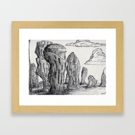 The Lab in the Cliffs Framed Art Print