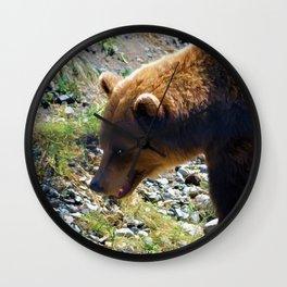 Griz - Wildlife Art Print Wall Clock