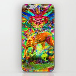 The Laser Focus of Couger Conciousness iPhone Skin