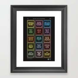 What not to say to a photographer. Framed Art Print