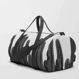 Cactus Black & White Duffle Bag