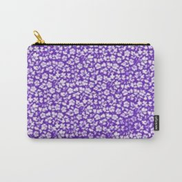 Vintage Flowers Purple Carry-All Pouch