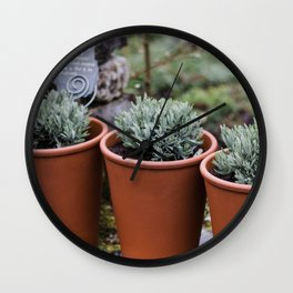 Potted Lavender Wall Clock