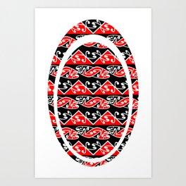 Kowhaiwhai Traditional Maori Koru Pattern Art Print