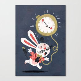 White Rabbit - Alice in Wonderland Canvas Print