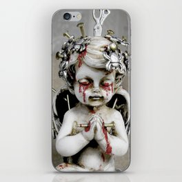 Massacred Angel: mixing Heaven with Hell. iPhone Skin