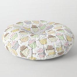 Cupcake Love Pattern -Food Pattern Floor Pillow