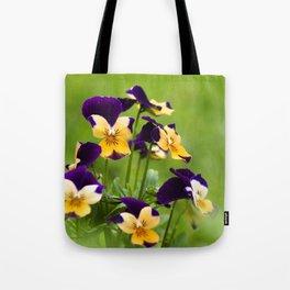 Viola Flowers Tote Bag