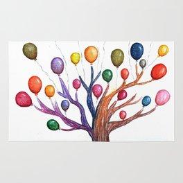 Balloon Tree Watercolor Rug