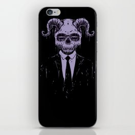 Black Bussiness iPhone Skin