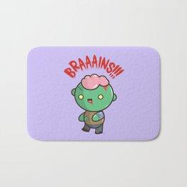Zombie Kawaii   BRAAAINS!!!! BRAINS!! Halloween Bath Mat