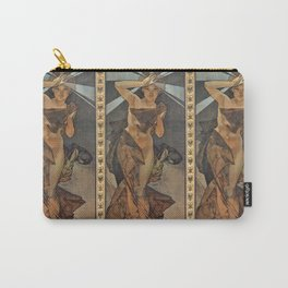 """Alphonse Mucha """"The Moon and the Stars Series: The Morning Star"""" Carry-All Pouch"""