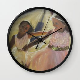 Ballerina Besties Wall Clock